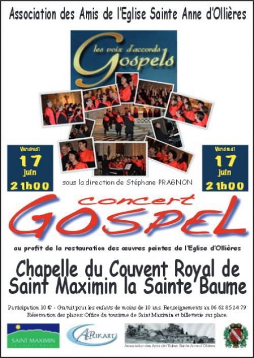 Gospel concert saint maximin la sainte baume 17 06 - Office tourisme saint maximin la sainte baume ...