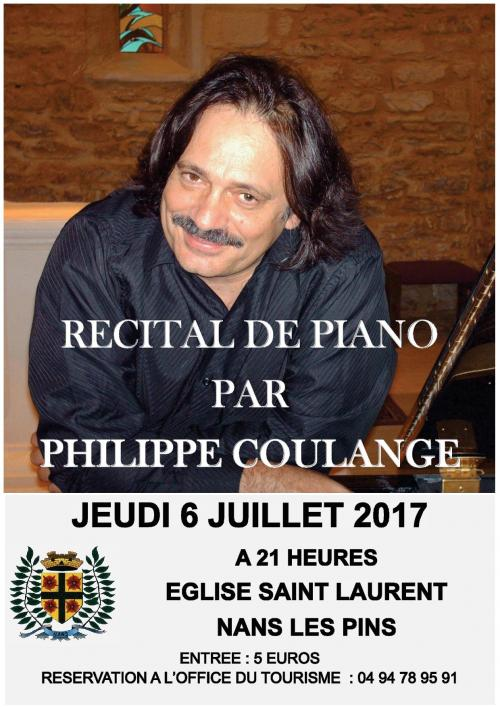 Recital de piano par philippe coulange concert nans - Office de tourisme saint laurent du var ...