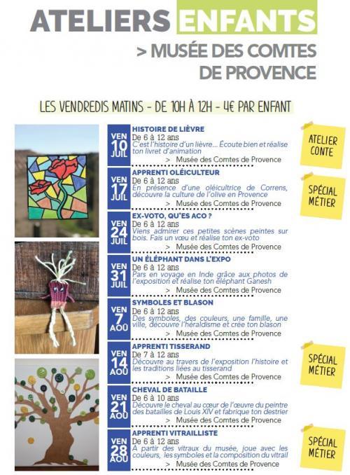 Atelier-enfant au Musée des Comtes de Provence