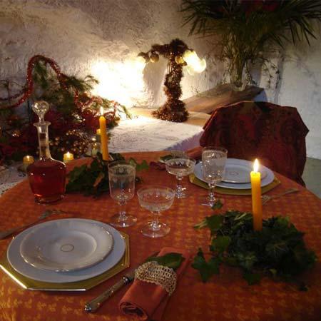 No l proven al cr ches santons pastorales fruits sec for La table a dessert